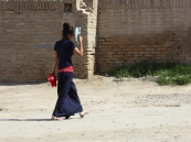 Locals out shopping, Khiva bazaar