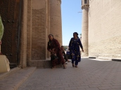 Locals out shopping, Khiva