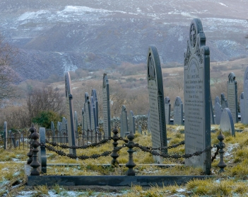 Slate gravestones for slate quarry workers